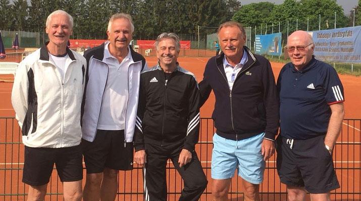 Doppelrunde Herren-65 : Rolf Bürck, Gunther Schüler, Bernd Schneider, Gerd Zech, Manfred Kogge