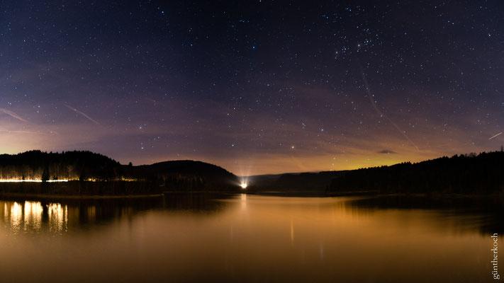 Sternenhimmel  über der Sösetalsperre
