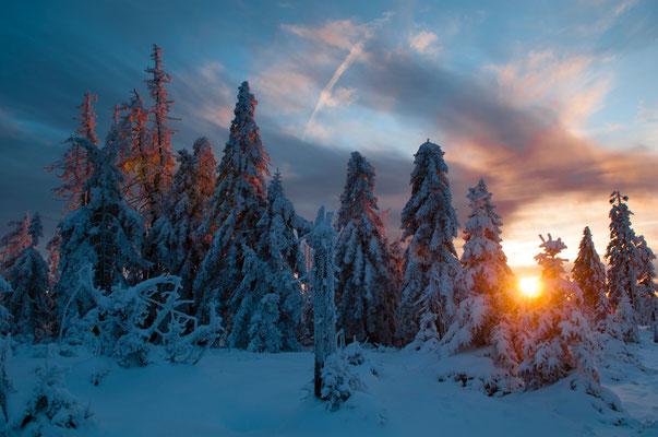 Berge, Felsen und Täler: Bruchberg_Sonnenuntergang_1