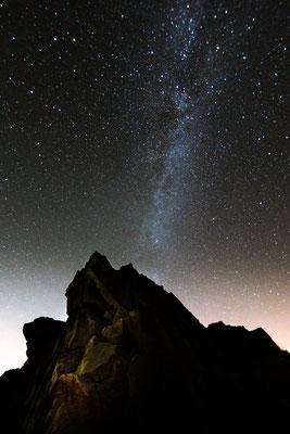 Mond und Sterne über dem Harz: auf der Wolfswarte 2