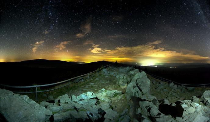 Mond und Sterne über dem Harz: auf dem Achtermann_1