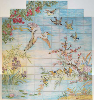 Kruger Tiles - hand made and hand painted tile mural