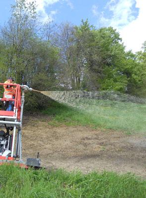 Hydrosaat für kleine Flächen