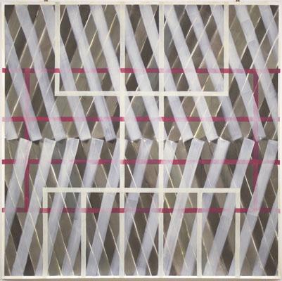 a rainy day - 200 x 200 cm - Gouache, Acryl auf Papier
