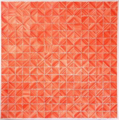 Zinnober 2 - 200 x 200 cm - Acryl auf Papier