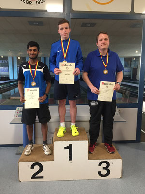 U23 männlich: 1. Florian Link, 2. Julian Pereira, 3. Jan Lehmann