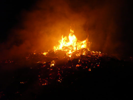 Feuer am Abend