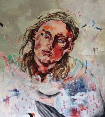 urban angel (m2), 2017, oil on canvas, 120 x 135 cm