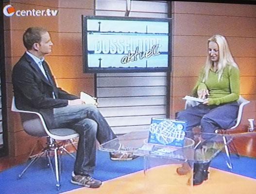 """Mein Fernsehauftritt beim Lokalsender """"CenterTV""""."""