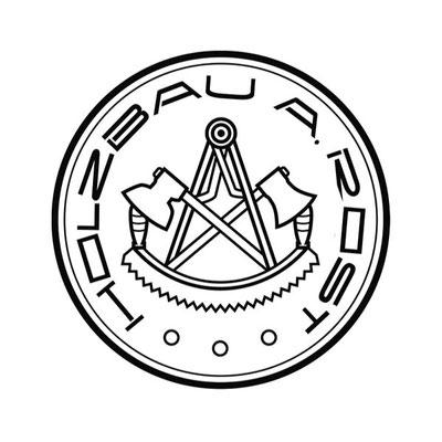 Holzbau Rost, Logo & Geschäftsausstattung