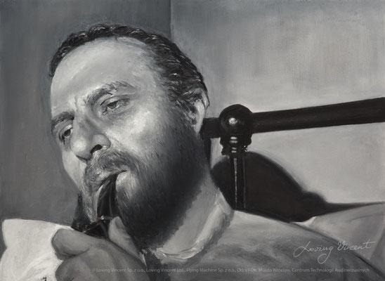 Ranny Vincent palący fajkę