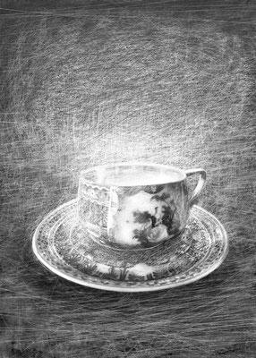 Rysunek na okładkę zbioru wierszy Bogdana Jaremina pt.Zapach porcelany