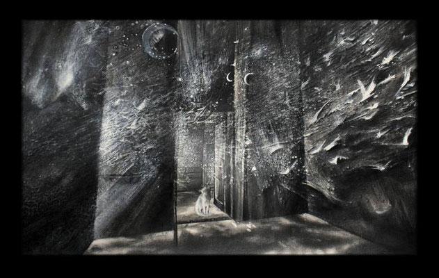 Trickster i strażnicy drzwi, 36x59cm