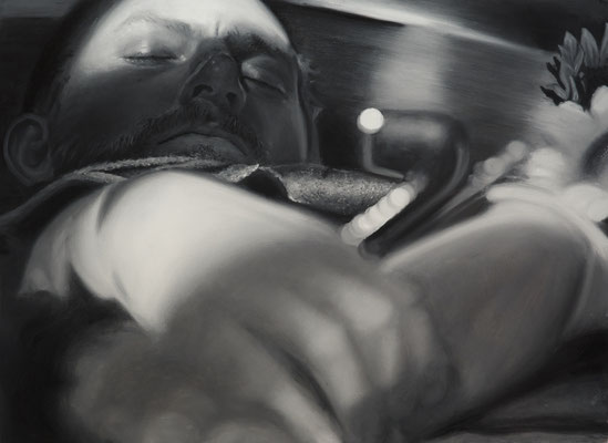 Vincent z fajką w trumnie