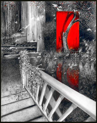 Co się dzieje za czerwonymi drzwiami, 37x28cm