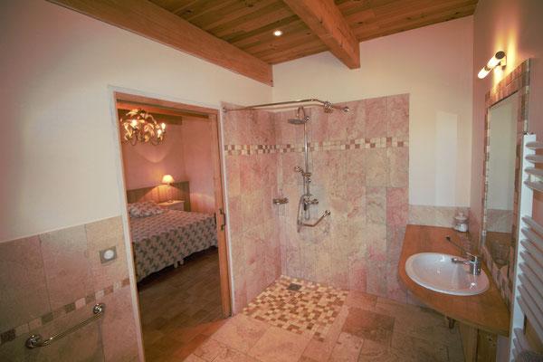 Salle de bains de la chambre Romance