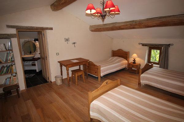 Suite Coquelicot, étage