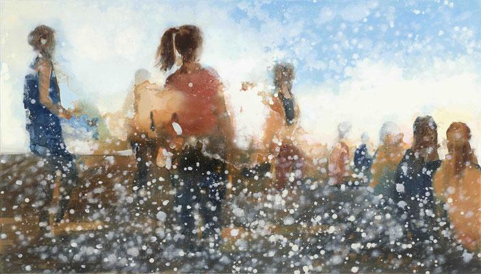 RENATA TUMAROVA  I  Light time  I  Öl auf Leinwand  I  80 x 140 cm (Repro: Eric Tschernow)