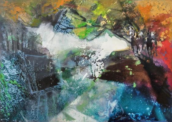 JINY LAN  I  New perpspective to the world  I  Mischtechnik auf Leinwand  I  100 x 140 cm