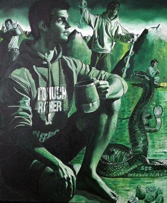 FABIAN PFLEGER I Rast und Rost I Öl auf Leinwand I 120 x 100 cm