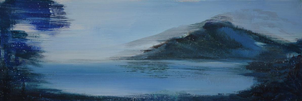 XIANWEI ZHU  I  blue hours  I  Acryl auf Leinwand  I  50 x 150 cm