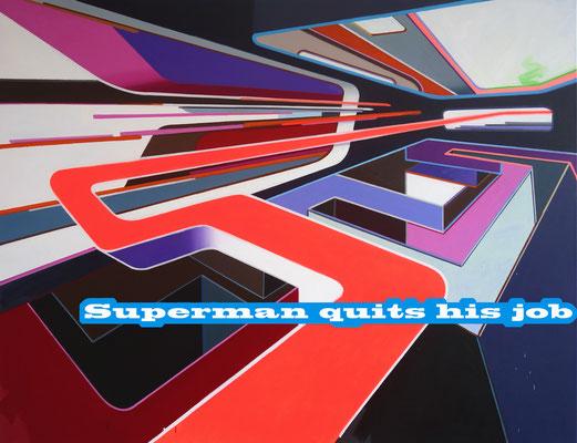 LUCIA DELLEFANT  I  Superman I  Acryl auf Leinwand I  140 x 180 cm