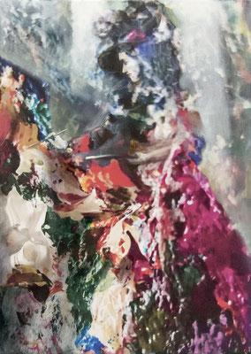 JINY LAN  I  Overdressing  I  Mischtechnik auf Leinwand  I   70 x 50  cm