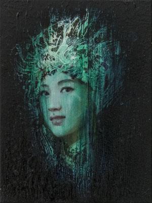 JINY LAN  I  Schamanin -Ying Wu  I  Öl auf Leinwand  I   40 x 30  cm