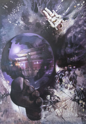 JINY LAN I Prophecy I Mischtechnik auf Leinwand I 200 x 140 cm