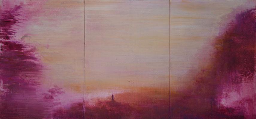 XIANWEI ZHU  I  hiraeth  I  Acryl auf Leinwand  I  40 x 120 cm