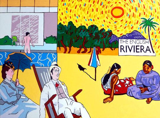 DEREK CURTIS  I  The English Riviera  I  Öl auf Aluminium  I  120 x 80 cm