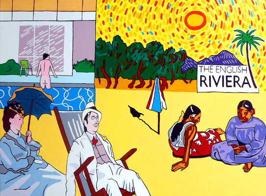 DEREK CURTIS  I  The English Riviera  I  Öl auf Aluminium  I  80 x 120 cm