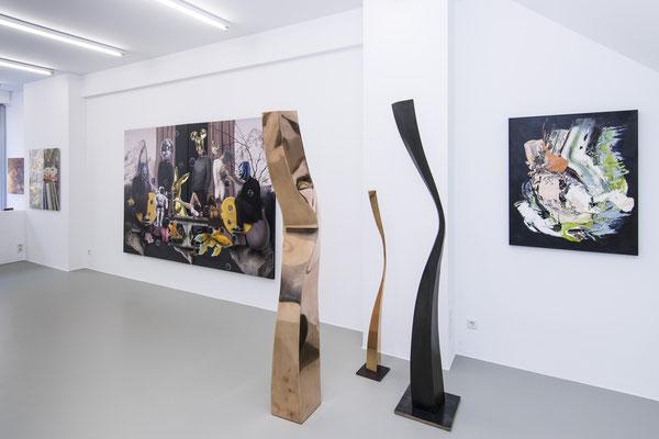 Ausstellungsansicht 6 INDEX 20: Jiny Lan, Matthias Köster, David Uessem, Volker Kiehn, Sebastian Heiner