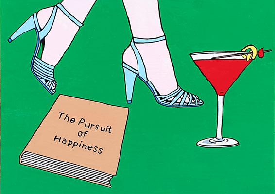 DEREK CURTIS  I  The Pursuit of Happiness  I  Öl auf Aluminium  I  35 x 45 cm