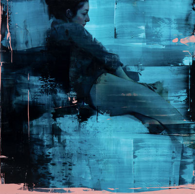 ALPAY EFE  I  is this a dream yet?  I  Öl auf Holz  I  120 x 120 cm