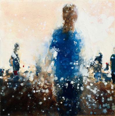 RENATA TUMAROVA  I  In the evening 02  I  Öl auf Leinwand  I  60 x 60 cm (Repro: Eric Tschernow)