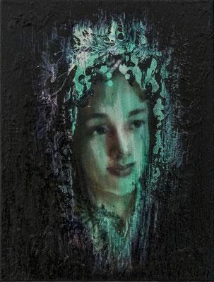 JINY LAN  I Schamanin - Ye Sang  I  Öl auf Leinwand  I   40 x 30  cm