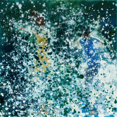 RENATA TUMAROVA  I  It's like magic 02  I  Öl auf Leinwand  I  80 x 80 cm (Repro: Eric Tschernow)