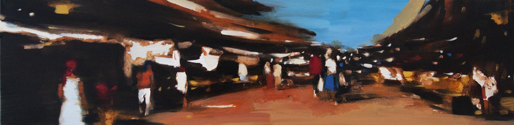 RENATA TUMAROVA  I  Summerheat  I  Öl auf Leinwand  I  30 x 120 cm
