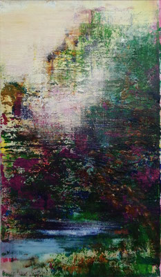 XIANWEI ZHU  I  the song of the river  I  Acryl auf Leinwand  I  41 x 24 cm