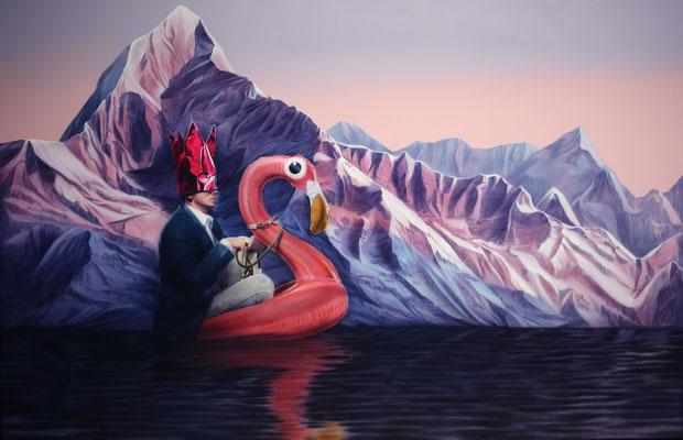 DAVID UESSEM  I  it wasn't me  I  Öl und Acryl auf Leinwand  I  150 x 230 cm