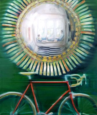 MARTIN HERLER  I  Mirror image mirage cycle  I  Öl auf Leinwand  I  120 x 100 cm