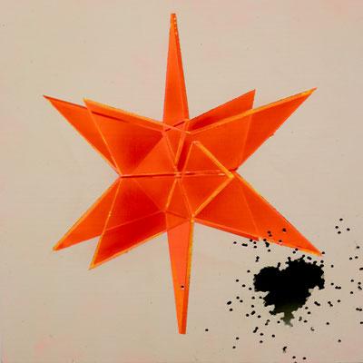 DAVID UESSEM  I  shootingstar  I  Öl und Acryl auf Leinwand  I  30 x 30 cm