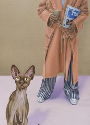 HOLGER KURT JÄGER  I  Edition  I  Flaneur  I  Fine Art Print auf Bütten  I  77 x 52 cm  I  Auflage: 20 +  4 Artist's Proofs  I  mit Modellrahmen, Passepartout und Museumsglas  I  Euro 890,-