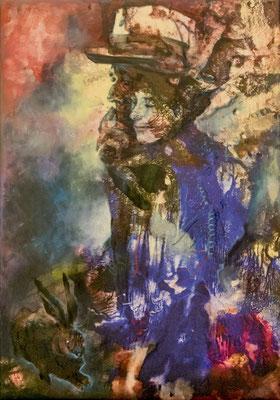 JINY LAN  I  Eva and Joseph  I  Mischtechnik auf Leinwand  I   100 x 70  cm