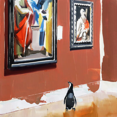 ALPAY EFE  I  Fine Art Connoisseur (Cesari)  I  Öl auf Holz  I  40 x 40 cm