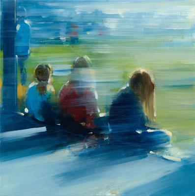 RENATA TUMAROVA  I  We always live together 02  I  Öl auf Leinwand  I  80 x 80 cm (Repro: Eric Tschernow)