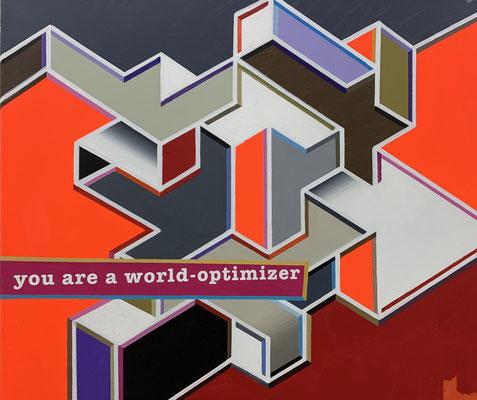 LUCIA DELLEFANT  I  world optimizer  I  Acryl auf Leinwand  I  66 x 76 cm