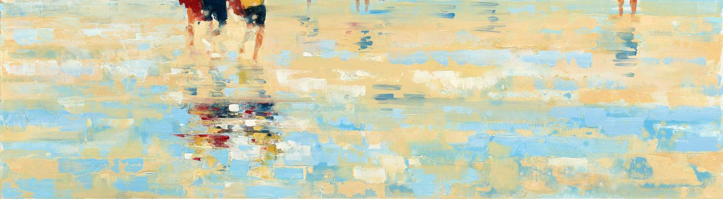 RENATA TUMAROVA  I  Downside up 02  I  Öl auf Leinwand  I  50 x 180 cm (Repro: Eric Tschernow)