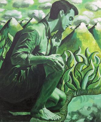 FABIAN PFLEGER I Narziss I Öl auf Leinwand I 120 x 100 cm